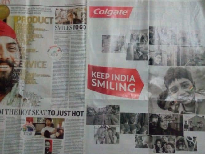 Colgate Ad in Brand Equity Newspaper
