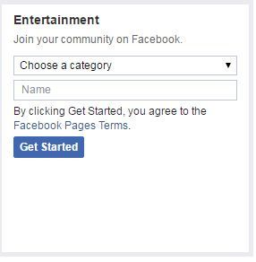 Entertainment Page Type