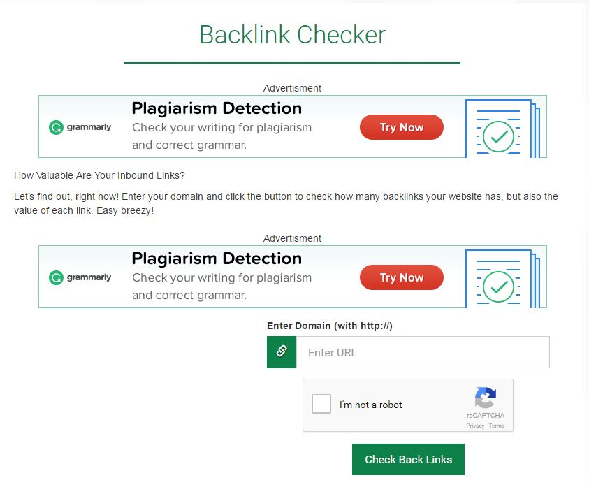 Backlink Checker seo tool