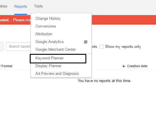 how to keyword search adwords