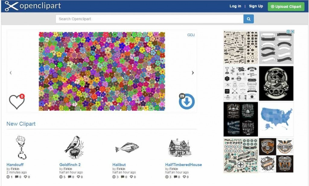 Open Clipart Free image website