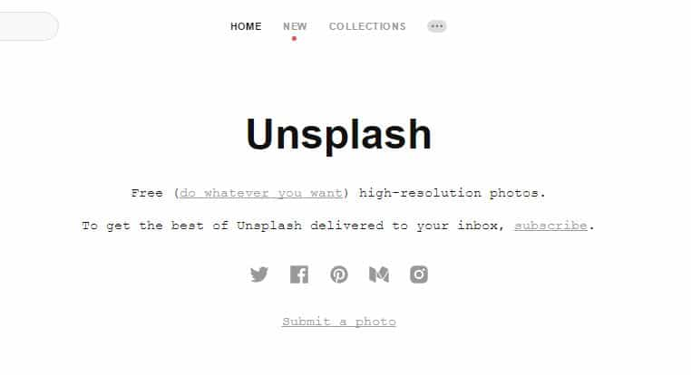 unsplash free images website