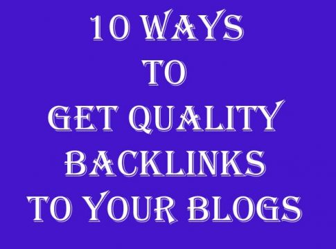 10 ways to get quality backlinks to your blogs
