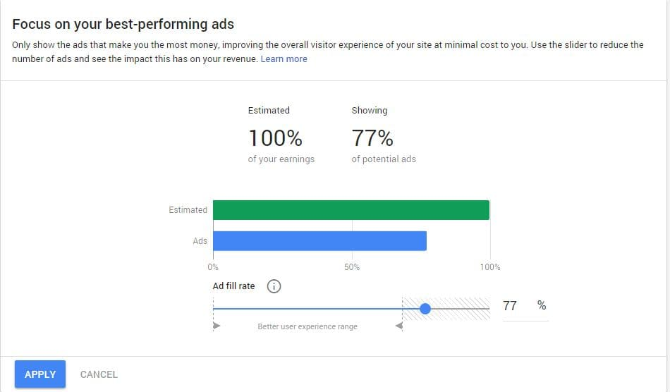 Ad balance new feature of google adsense