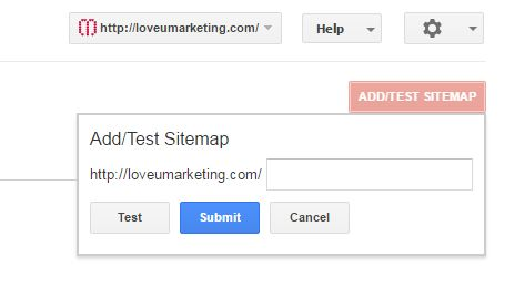 Add Sitemap to google search engine