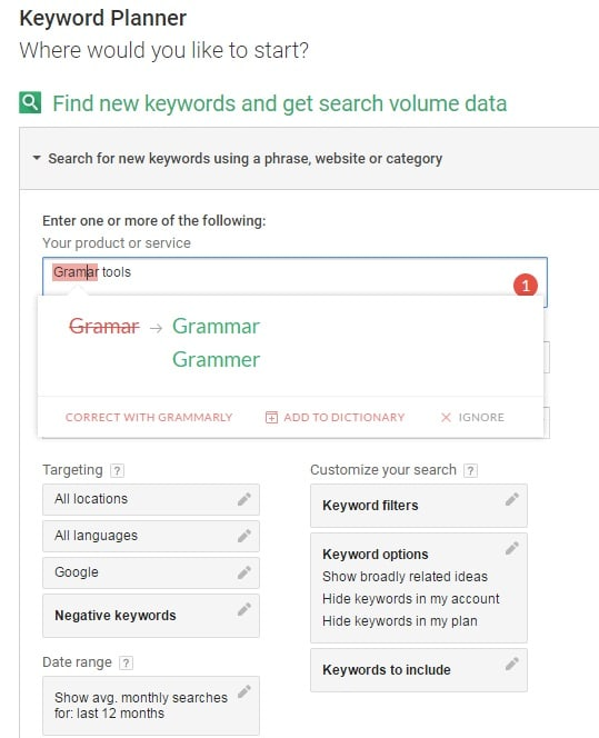 Grammarly check tool