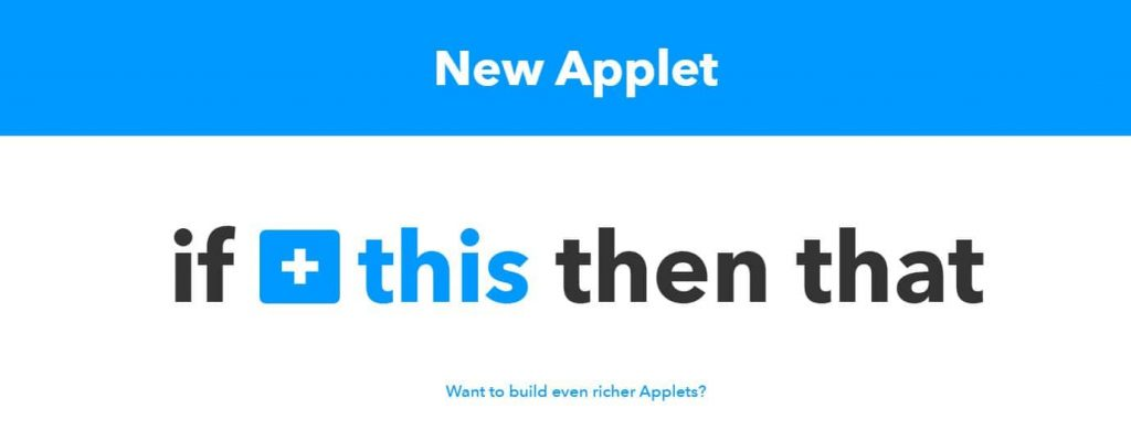 IFTTT, If this then that