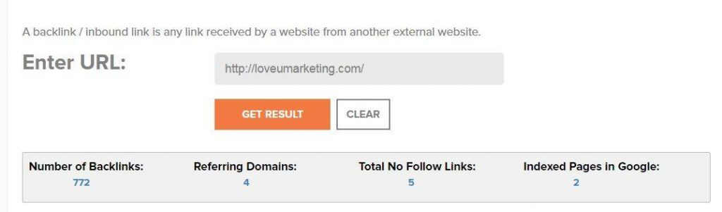 Lots of Backlinks for LoveUMarketing