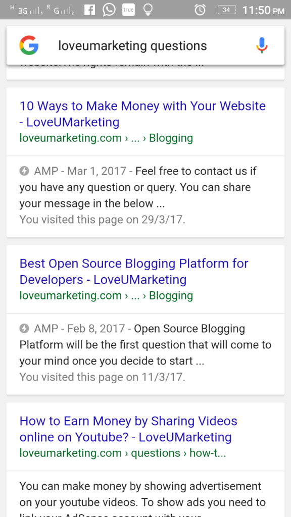 LoveUMarketing AMP Page WordPress