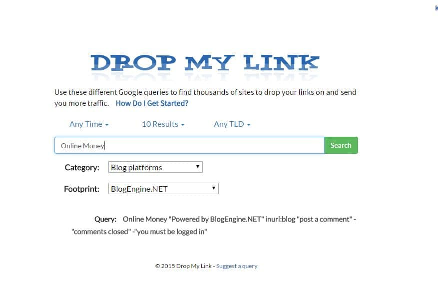 Drop My Link website for getting quality backlinks for your blog