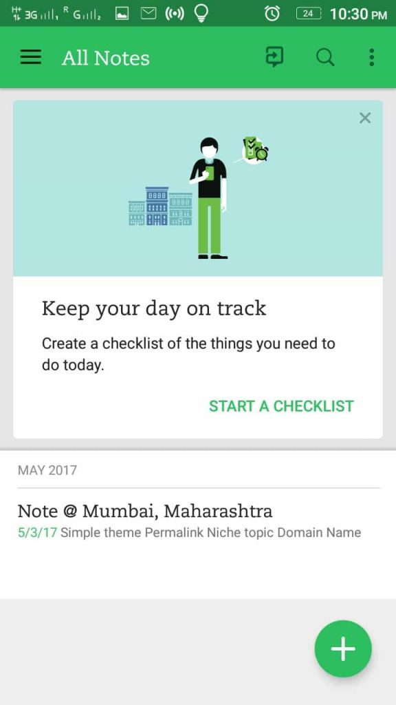 Evernote Checklist Mobile App