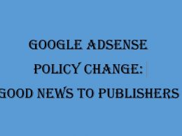 Google Adsense Policy Change