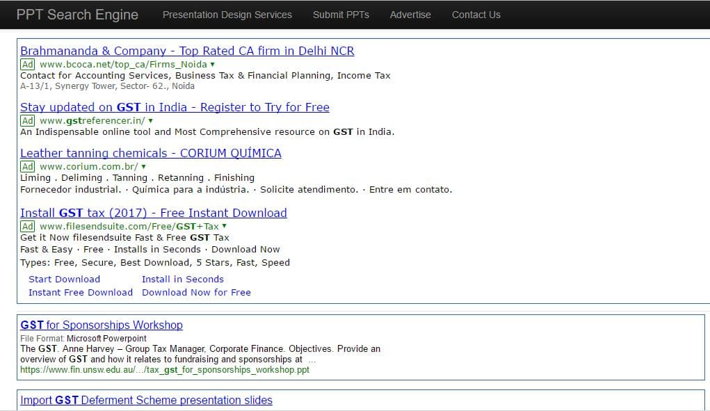 Search Engine for Ppt Presentation