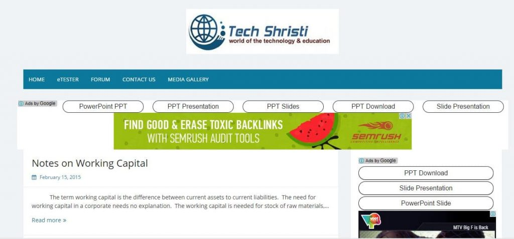 Techshristi WordPress Website