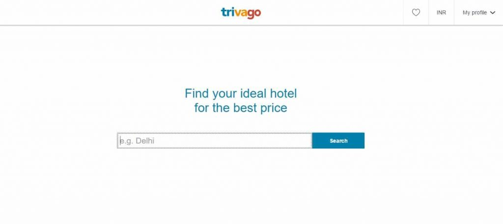 Trivago Website for comparison