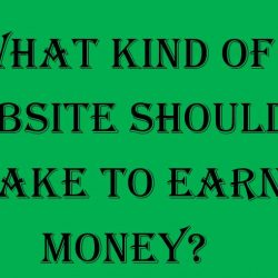 What Kind of Website Should I make to Earn Money.