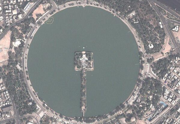 kankaria lake top view