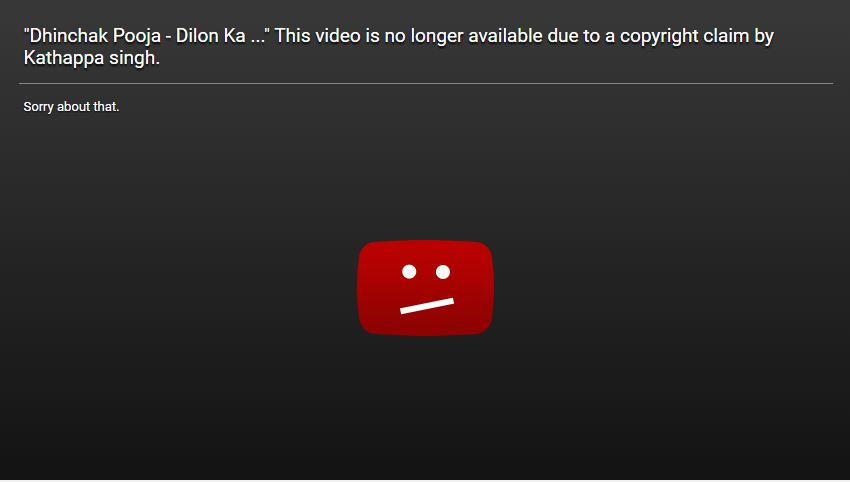 Dhinchak Pooja deleted all her video, Youtube banned