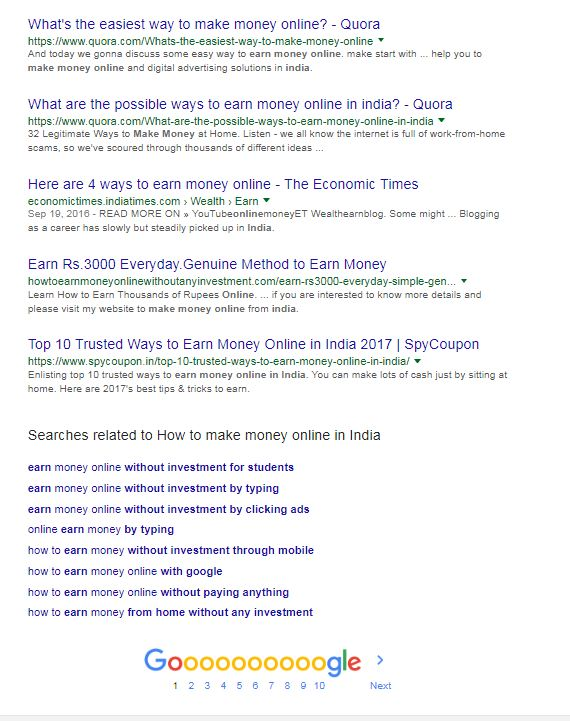 Quora on the First Page of the Google Search Result