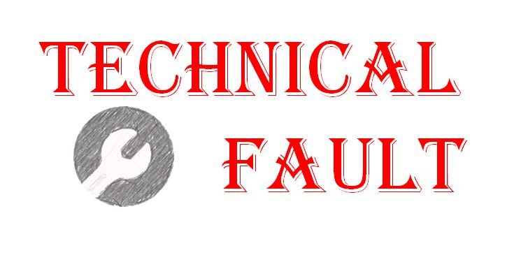 Technical Fault in the Website or Blog