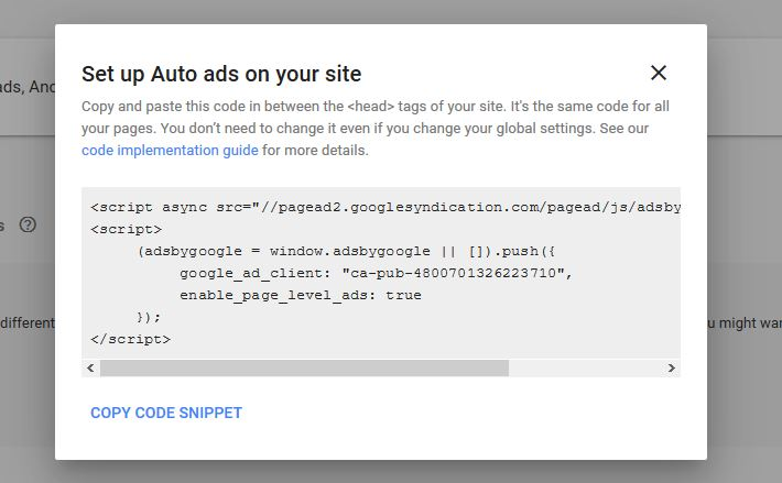 Set Up Auto Ads on Your Website