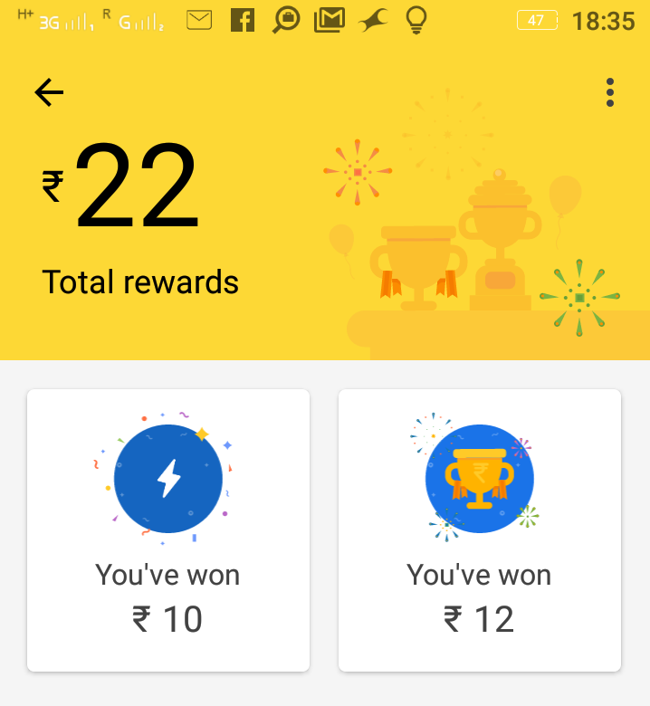Google Pay Rewards Scratch Card for cash prize