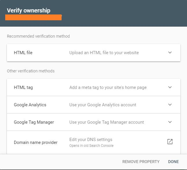 Verify Ownership in Google Search Console