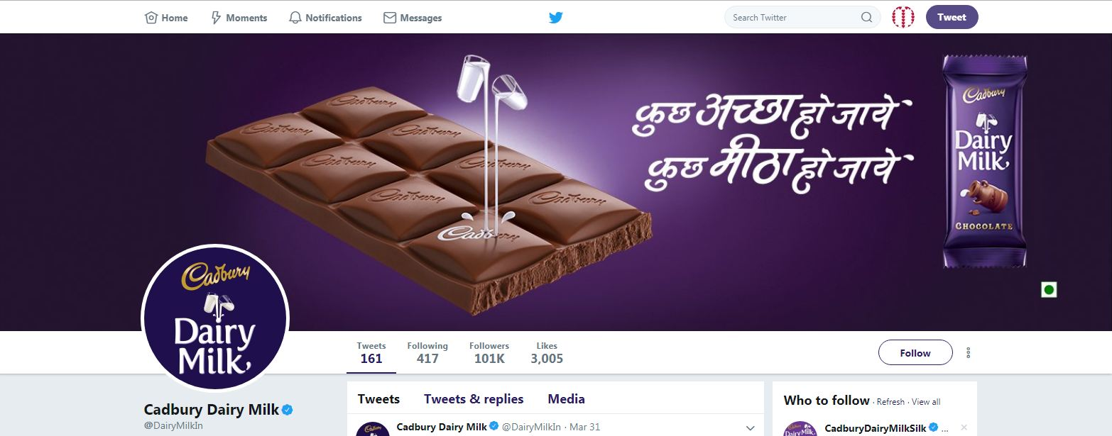 Dairy Milk Twitter Cover Photo