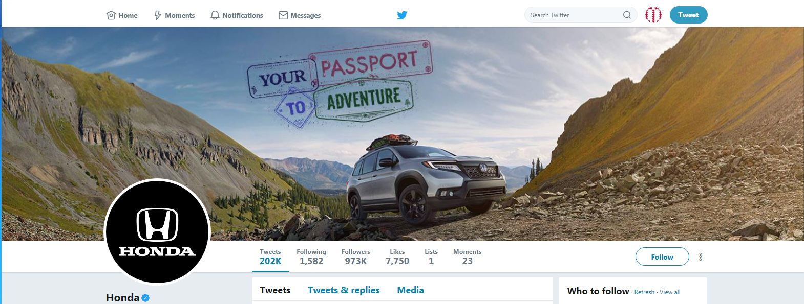 Honda Cover Photo Of Twitter