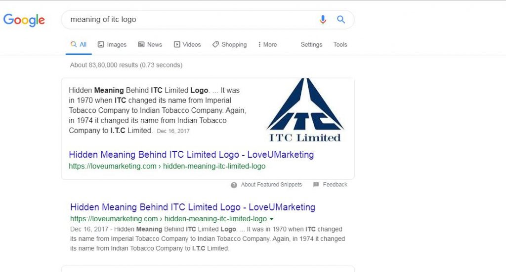 Meaning of ITC Logo