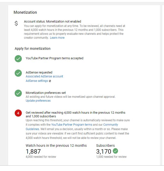 youtube monetization option