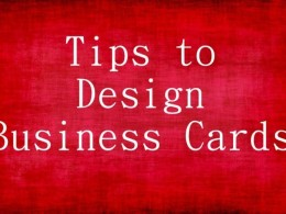 Tips to Design Business Cards